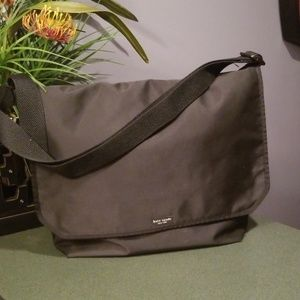 Kate Spade Black Nylon Messenger Bag Made in USA